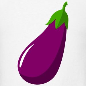 Eggplant Aubergine Vegetable Vector Sign T-Shirts - Men's T-Shirt
