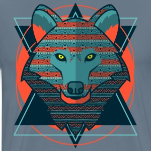Stylized Hipster Wolf T-Shirts - Men's Premium T-Shirt