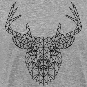Polygonal Deer Black T-Shirts - Men's Premium T-Shirt