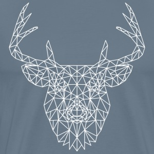 Polygonal Deer White T-Shirts - Men's Premium T-Shirt