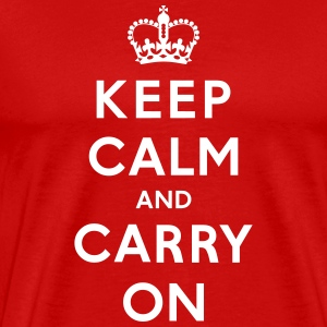 Keep Calm and Carry On T-Shirt - Men's Premium T-Shirt