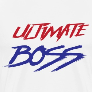 Ultimate Frisbee T-Shirt: Ultimate Boss - Light - Men's Premium T-Shirt