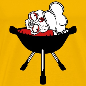 blood head zombie bbq food cook cooking chef, mast T-Shirts - Men's Premium T-Shirt