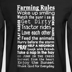 Farmer Rules Shirt - Men's Long Sleeve T-Shirt