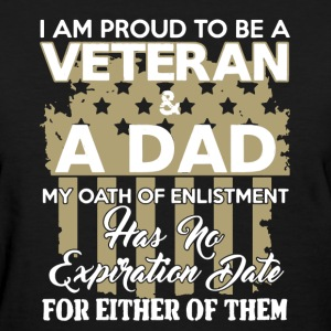 Veteran and A Dad Shirt - Women's T-Shirt