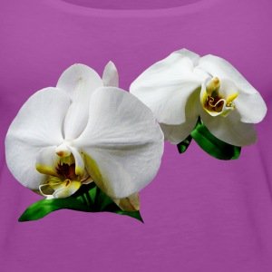 Delicate White Orchids Tanks - Women's Premium Tank Top
