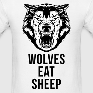 Wolf - Wolves Eat Sheep T-Shirt - Men's T-Shirt