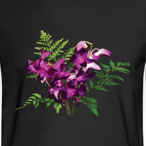 Bouquet of Purple Orchids and Ferns - Men's Long Sleeve T-Shirt