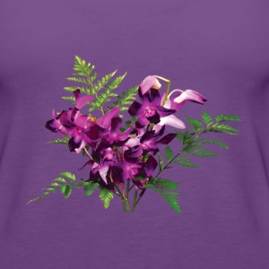 Bouquet of Purple Orchids and Ferns - Women's Premium Tank Top