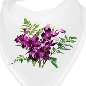 Bouquet of Purple Orchids and Ferns - Bandana