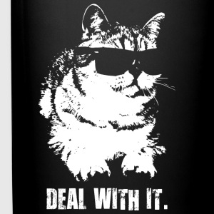 Deal With It (Cool Cat) Mugs & Drinkware - Full Color Mug