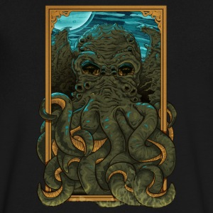 Answering the Call of Cthulhu - Men's V-Neck T-Shirt by Canvas