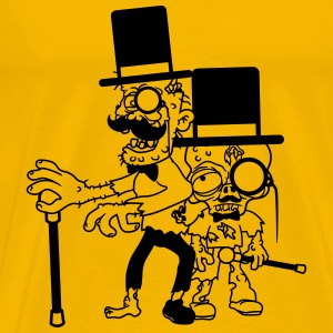 2 buddies few team party sir mr gentlemen cylindri T-Shirts - Men's Premium T-Shirt