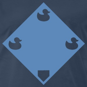 Ducks on a pond - Blue - Men's Premium T-Shirt