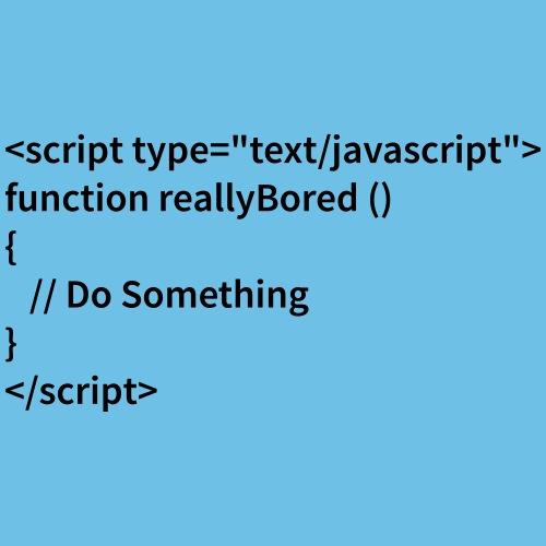 Bored Javascript Black Font