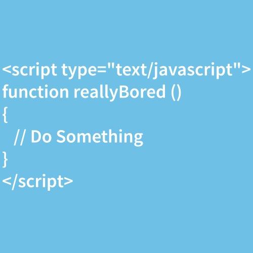 Bored Javascript White Font