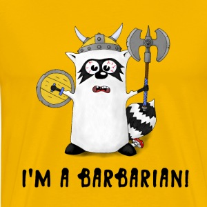 Raccoon: I'm a Barbarian! T-Shirts - Men's Premium T-Shirt