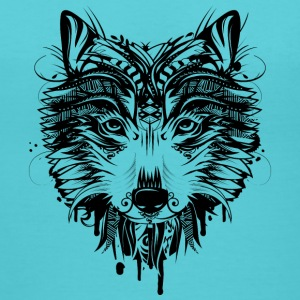 Wolf head Women's T-Shirts - Women's V-Neck T-Shirt