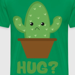 Hug? (Sad Prickly Cactus) T-Shirts - Men's Premium T-Shirt