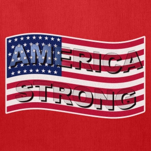 AMERICA STRONG FLAG WAVE - Tote Bag