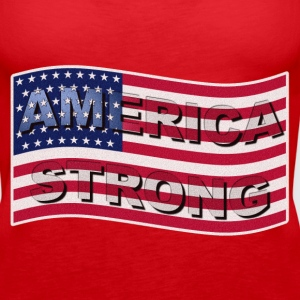 AMERICA STRONG FLAG WAVE - Women's Premium Tank Top
