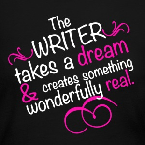 Writer Tee - Pink Shirt - Women's Long Sleeve Jersey T-Shirt