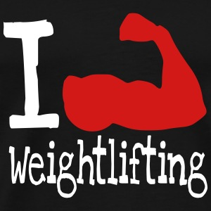 I love weightlifting red T-Shirts - Men's Premium T-Shirt