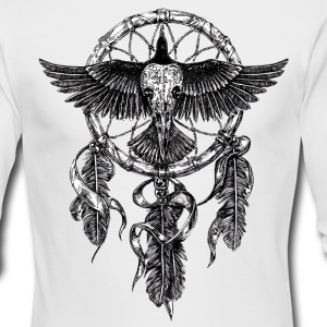 AD Skull Crow Dreamcatcher Long Sleeve Shirts - Men's Long Sleeve T-Shirt by Next Level