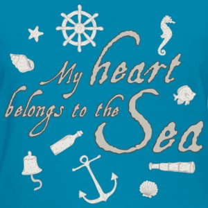 my_heart_belongs_to_the_sea_06201601 T-Shirts - Women's T-Shirt