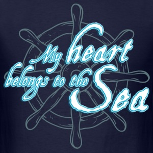 my_heart_belongs_to_the_sea_06201606 T-Shirts - Men's T-Shirt