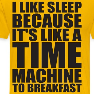 Sleep Is Like A Time Machine To Breakfast T-Shirts - Men's Premium T-Shirt