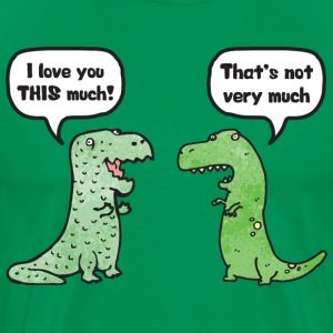 T-Rex Loves You This Much T-Shirts - Men's Premium T-Shirt