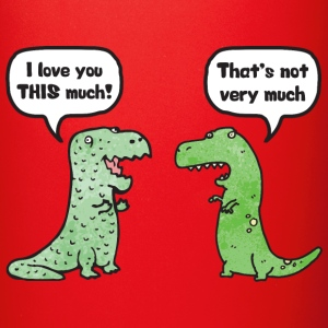 "T-Rex Loves You ""This Much"" Mugs & Drinkware - Full Color Mug"