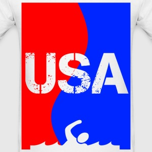 USA SWIMMING transparent T-Shirts - Men's T-Shirt