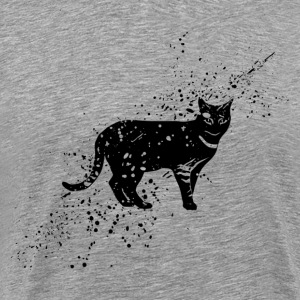 Black cat cartoon art T-Shirts - Men's Premium T-Shirt