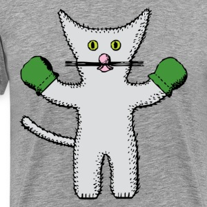 Kitten with mittens clip  T-Shirts - Men's Premium T-Shirt