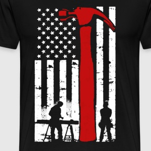 Carpenter Flag Shirt - Men's Premium T-Shirt