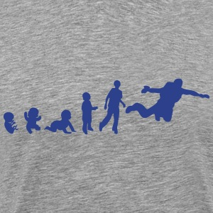 jumping evolution human sports base T-Shirts - Men's Premium T-Shirt