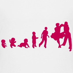 human evolution sports dance sport Kids' Shirts - Kids' Premium T-Shirt