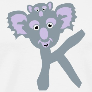 koala letter k drawing 511 T-Shirts - Men's Premium T-Shirt