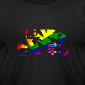 Love is Love T-Shirts  - Men's T-Shirt by American Apparel