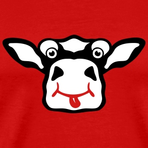 cow drawing funny animals 511 T-Shirts - Men's Premium T-Shirt