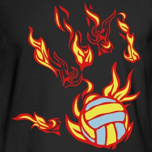 flame hand volleyball Long Sleeve Shirts - Men's Long Sleeve T-Shirt