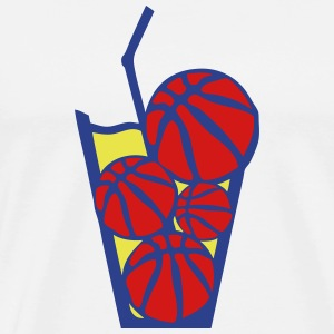 basketball glass beverage drink T-Shirts - Men's Premium T-Shirt