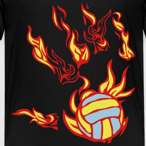 flame hand volleyball Kids' Shirts - Kids' Premium T-Shirt