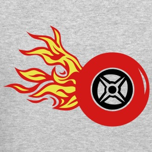 tire wheel flame fire 12 Long Sleeve Shirts - Crewneck Sweatshirt