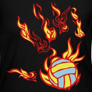 flame hand volleyball Long Sleeve Shirts - Women's Long Sleeve Jersey T-Shirt