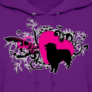Australian Shepherd Hearts and Swirls Hoodies - Women's Hoodie