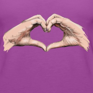 Hands heart Tanks - Women's Premium Tank Top