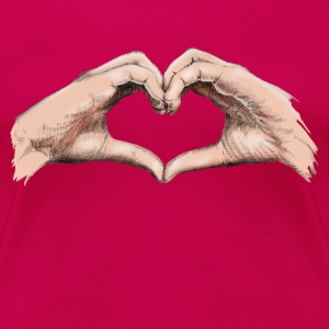 Hands heart T-Shirts - Women's Premium T-Shirt